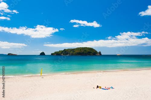 Hahei Beach at Coromandel Peninsula on New Zealand