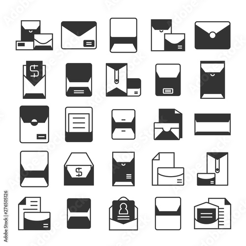 email, mail, envelope and newsletter icons set Tablou Canvas