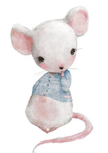 Cute Little Mouse Girl With Bl...