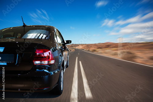 Poster Cappuccino Car driving on highway road auto speed transportation
