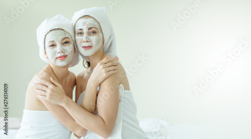 Fototapety, obrazy: portrait of a young couple in spa salon