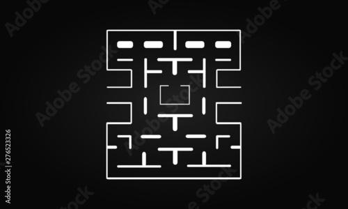 Pacman map Canvas-taulu