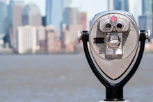 New York City Panorama And Touristic Telescope