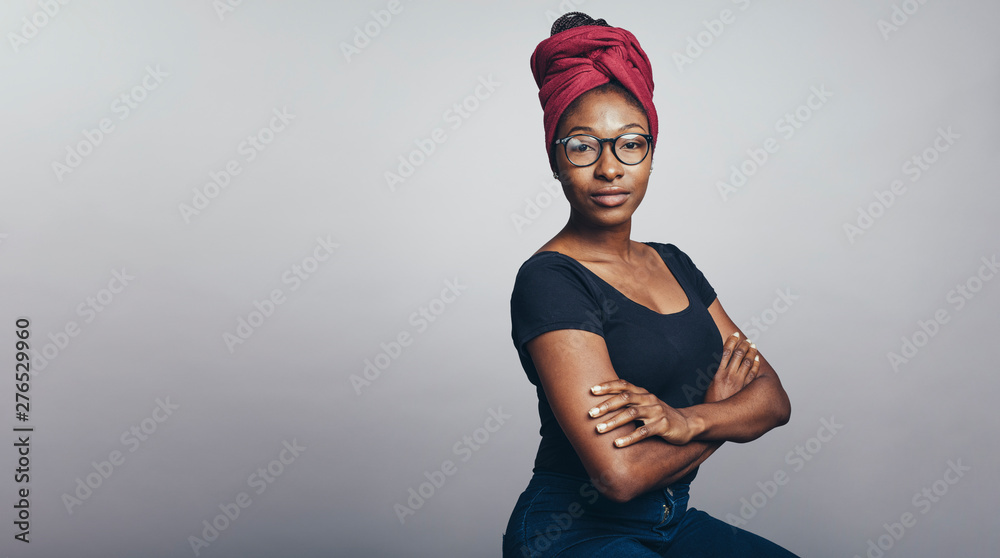 Fototapety, obrazy: African woman in a headwrap