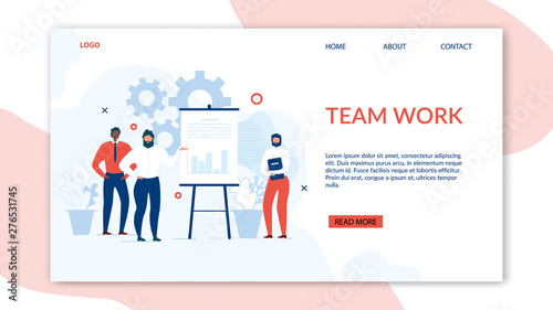 Photo  Teamwork and Collaboration Benefits Landing Page