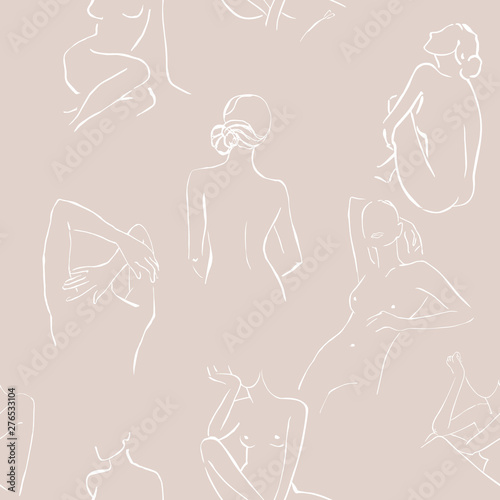 Line Womans Body Silhouette Art