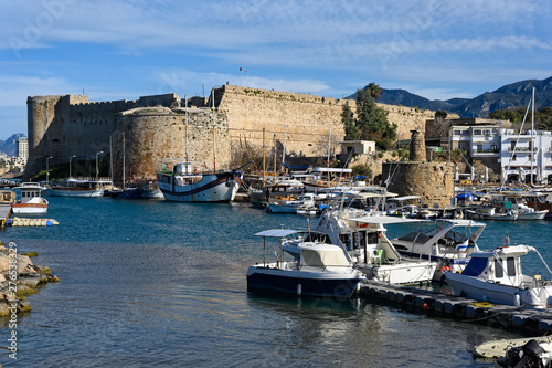 Kyrenia Castle in Cyprus, view from the Old harbour