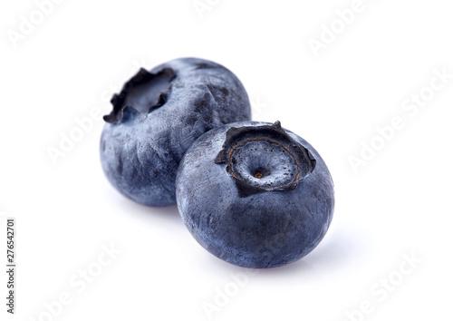 Foto Blueberries Isolated on White Background. Macro.