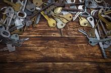 Set Of Different Vintage Keys ...