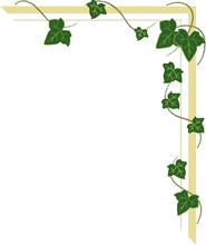 Corner Ornament With Ivy Shoot...