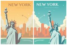 Statue Of Liberty Banner Set. ...