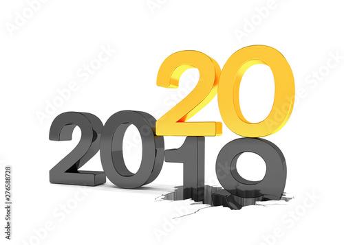 3d illustration 2019 2020 silvester neujahr. Black Bedroom Furniture Sets. Home Design Ideas