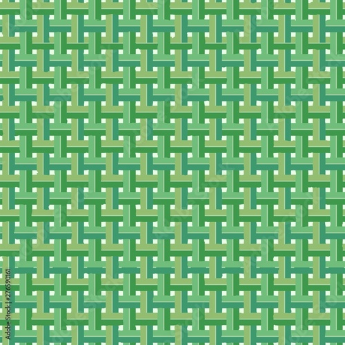 Foto auf Gartenposter Ziehen Weaved Coconut Leaves Vector Seamless Pattern Background