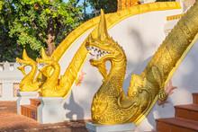 Dragons Statues At Haw Phra Ka...