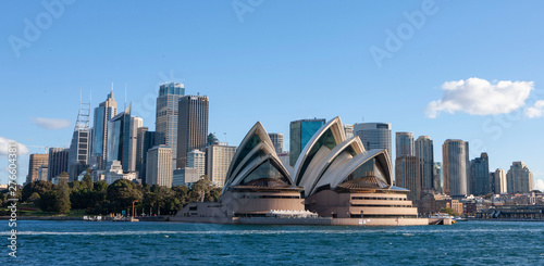 Sydney Australia. Opera House and skyline. Wallpaper Mural