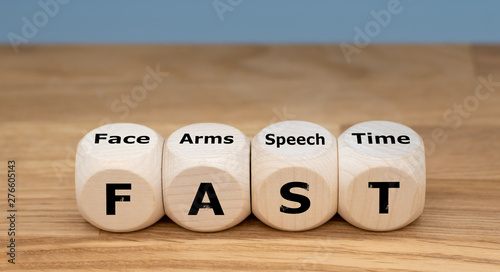 Photo The acronym FAST is used as mnemonic to help a person having a stroke