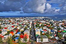 Panorama Of Reykjavík  -  The Capital And Largest City Of Iceland