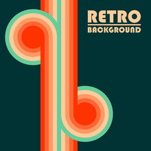 Retro Design Background With C...