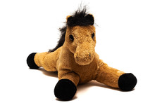 Brown Plush Toy Horse, Isolate...