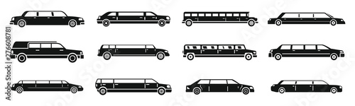 Photographie Modern limousine icons set