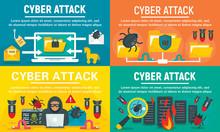 Modern Cyber Attack Banner Set...