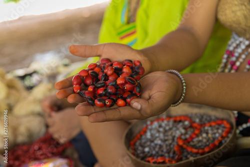 Fototapeta Artesania Kukama_comunidad Indigena  de Perú obraz