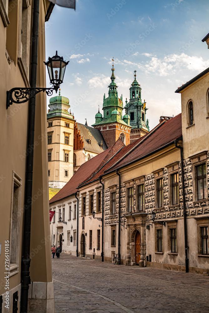 Obraz View of the Wawel castle from Kanonicza street. fototapeta, plakat