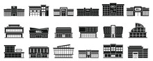 Mall Building Icons Set. Simpl...