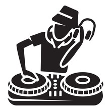 Dj Player Icon. Simple Illustr...