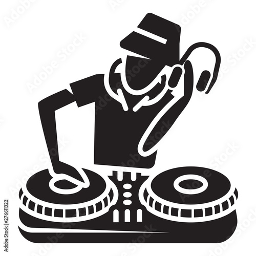 Fotografie, Tablou  Dj player icon