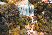 Aerial View Of The Elephant Waterfall, Vietnam