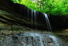 Water Flowing Of The Limestone...