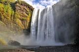 Fototapeta Tęcza - Skogafoss waterfall on Island
