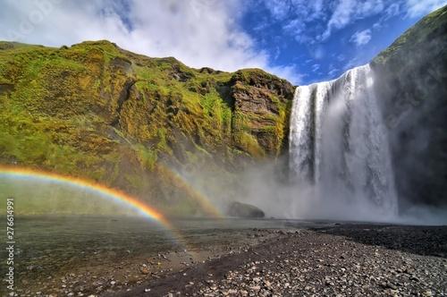Skogafoss waterfall on Island