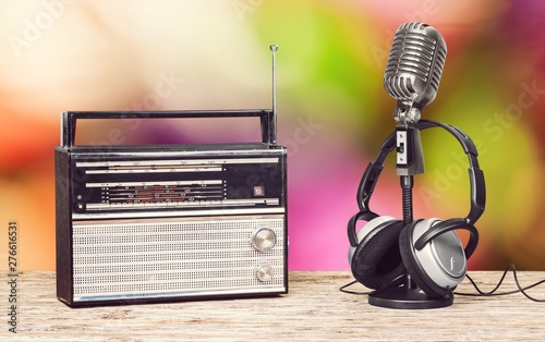 Retro style microphone and ...