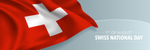 Swiss Happy National Day Vecto...