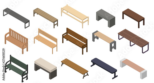 Cuadros en Lienzo Bench icons set