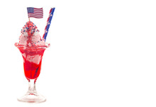 An Ice Cream Sundae With An American Flag A Great Dessert For A Fourth Of July Picnic