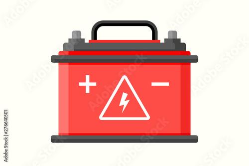 Photo Car battery flat icon