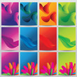 Vector abstract design background template set collections