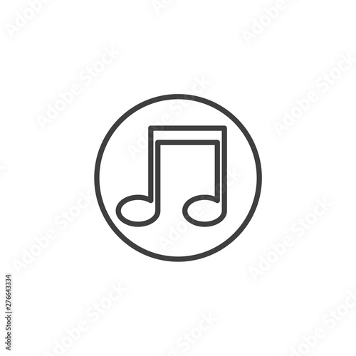 Music Note Template | Music Note Icon Symbol Template Black Color Editable Simple