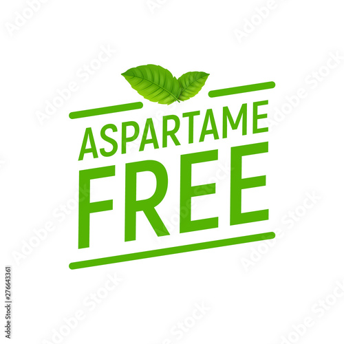 Photo Aspartame free artificial symbol icon