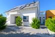 canvas print picture - modernes Einfamilienhaus, weiss
