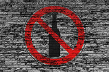 Alcohol Ban Prohibition Sign