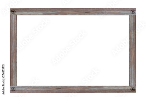 Pinturas sobre lienzo  Wooden picture frame isolated on white background