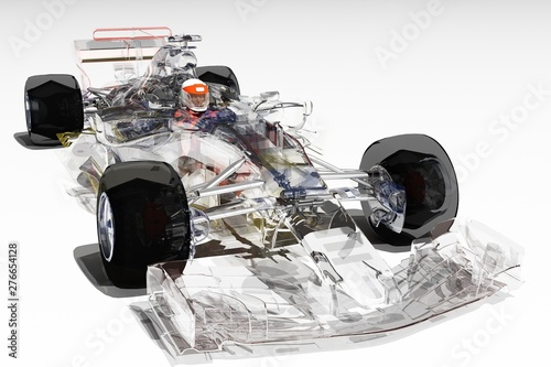 Ingelijste posters F1 Transparent model cars.
