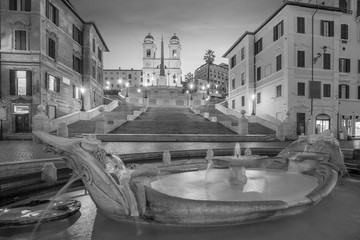 Fototapeta Rzym Piazza de spagna(Spanish Steps) in rome, italy