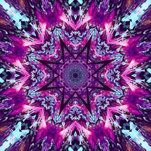 Design For Silk Neck Scarf, Shawl, Mandala