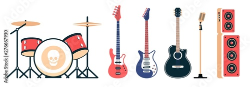 Fotografia Rock band instruments set
