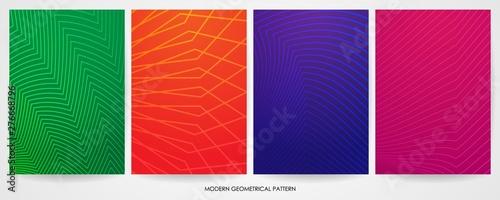Fototapety, obrazy: set of minimal cover design with modern geometric pattern